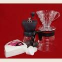 Hario Skerton + Drip V60 02 + Filtry +Serwer HIT