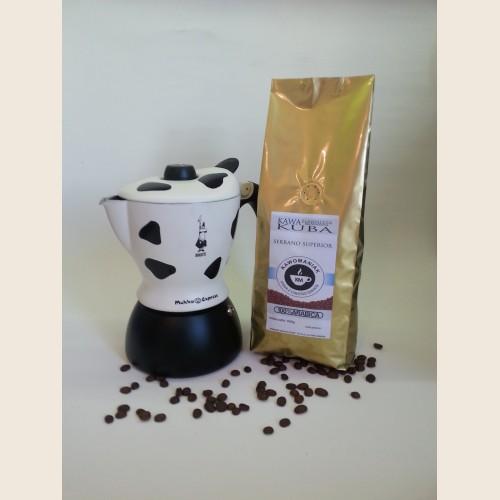 Kawiarka Bialetti Mukka + wybrana kawa