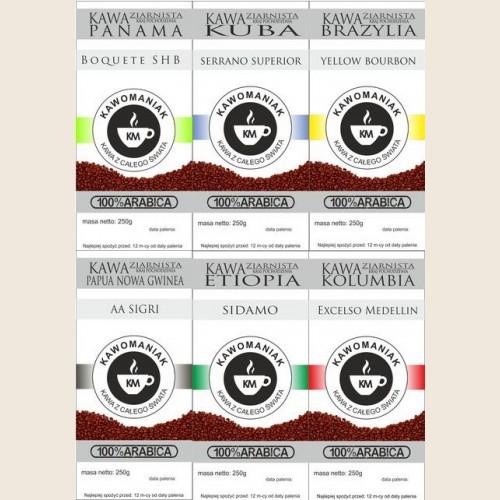 Zestaw powitalny 6x250 gram kawy