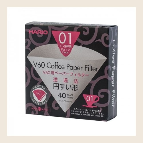 Filtry papierowe Hario do dripa  V60-01